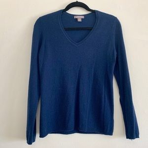 Charter Club Navy Cashmere Sweater M